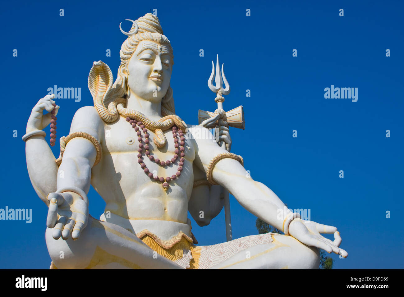 Asia, India, Karnataka, Bijapur, Shiva Shivagiri, Lord Shiva Statue Stock Photo