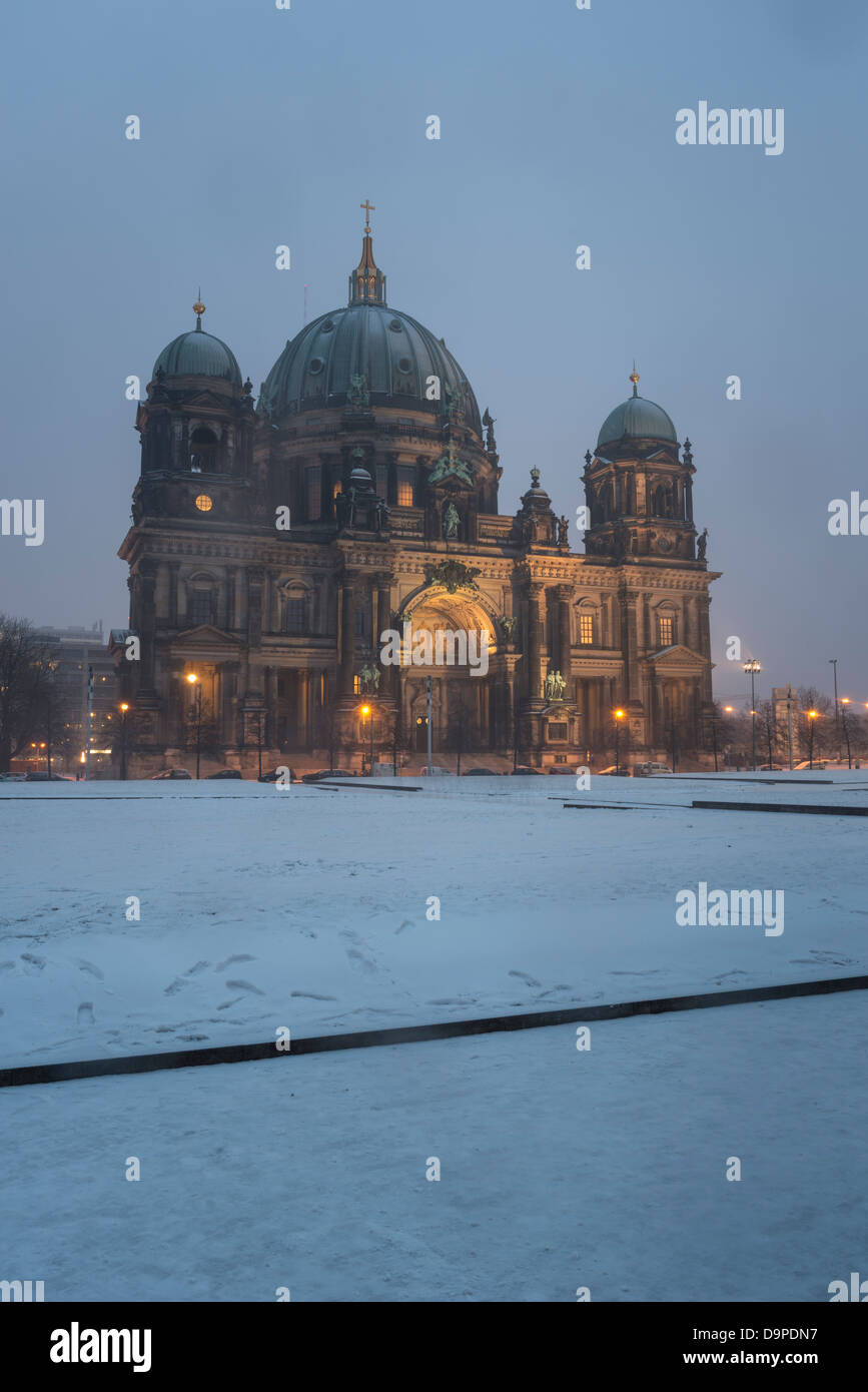 Berlin Cathedral,Berliner Dom at night,Berlin,Germany - Stock Image