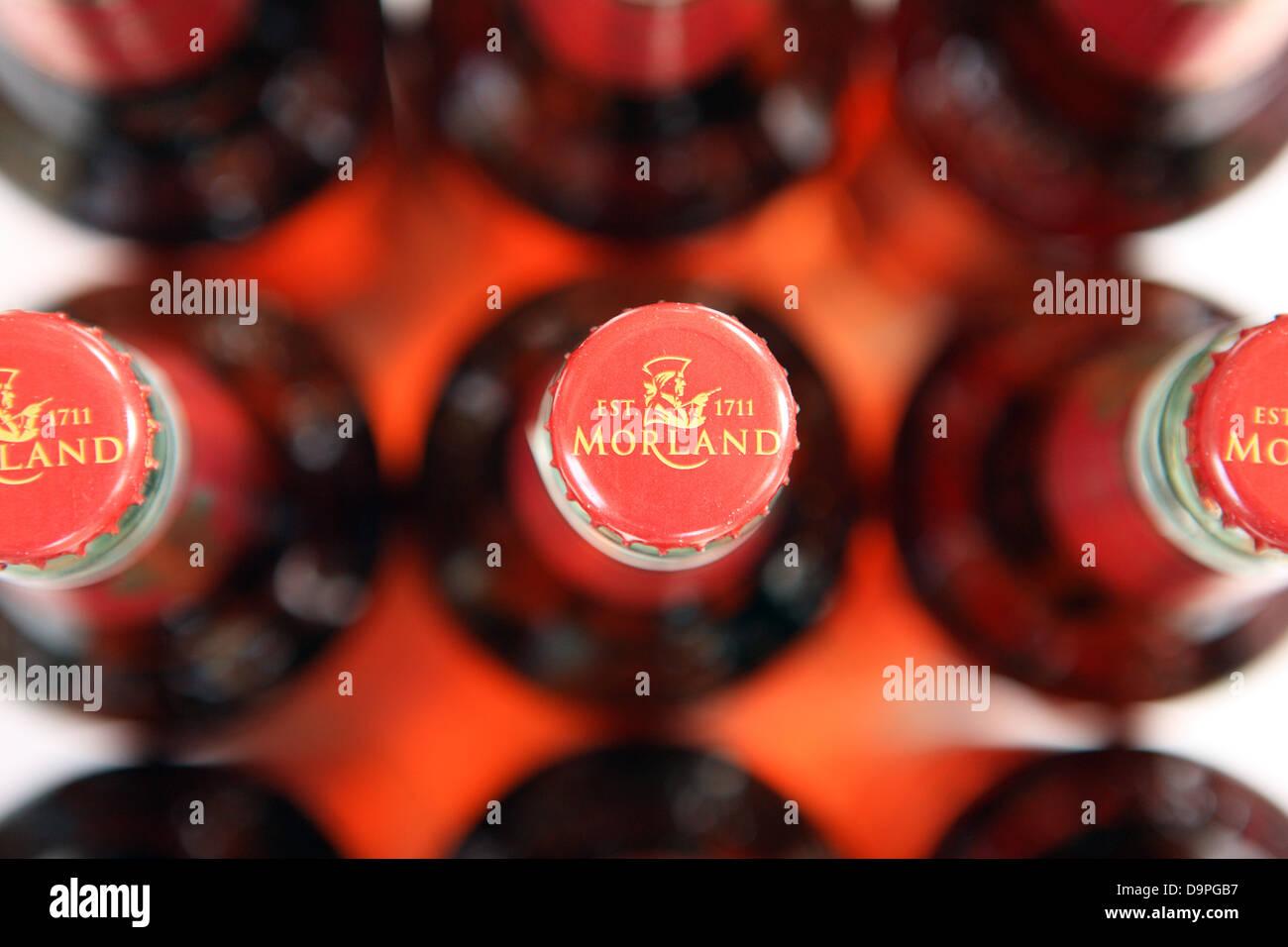 Morland beer bottle caps - Stock Image