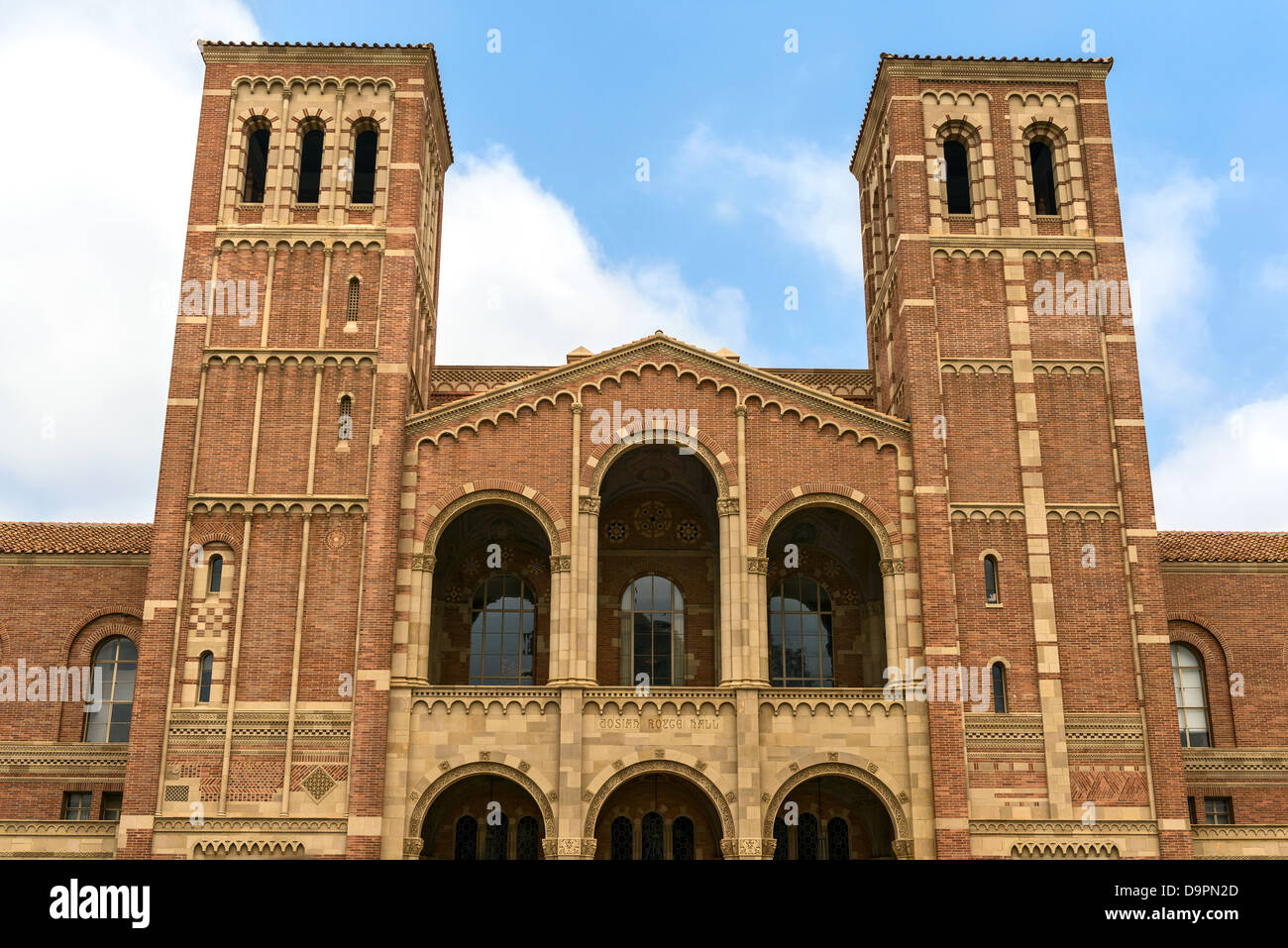 The famous Royce hall of UCLA, the University of California, Los Angeles. - Stock Image