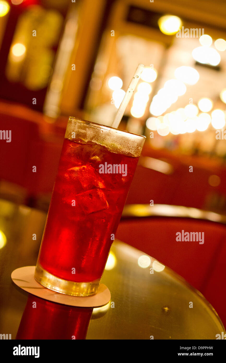 Colorful drink on table in restaurant Stock Photo
