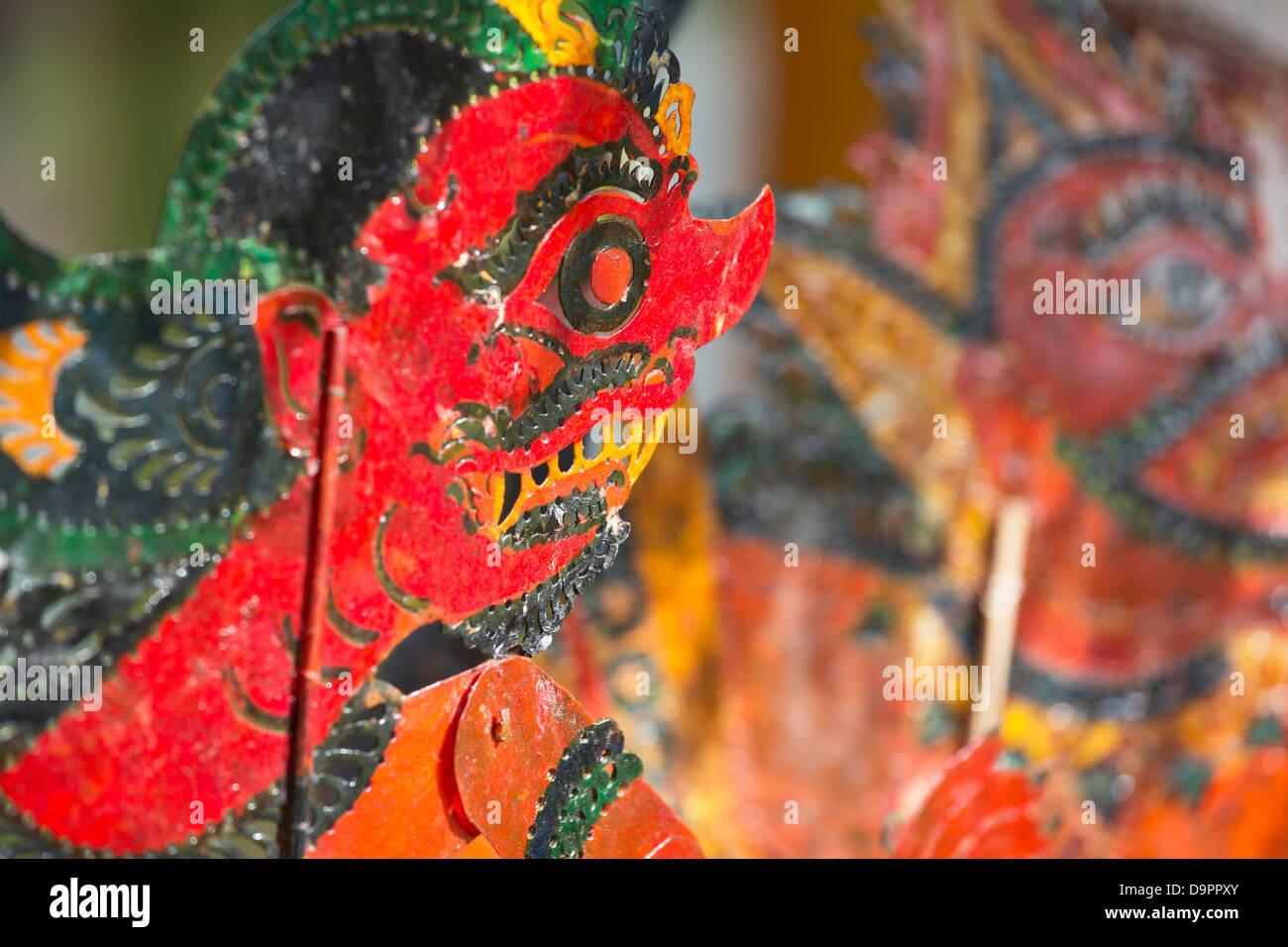 Malaysian shadow puppets, Kota Bharu, Kelantan, Malaysia - Stock Image