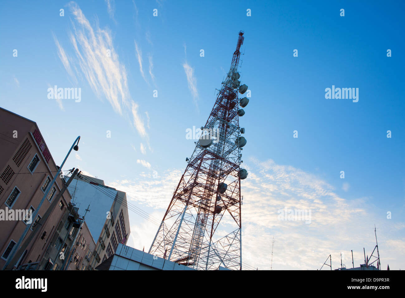 Communications mast, Kota Bharu, Kelantan, Malaysia - Stock Image