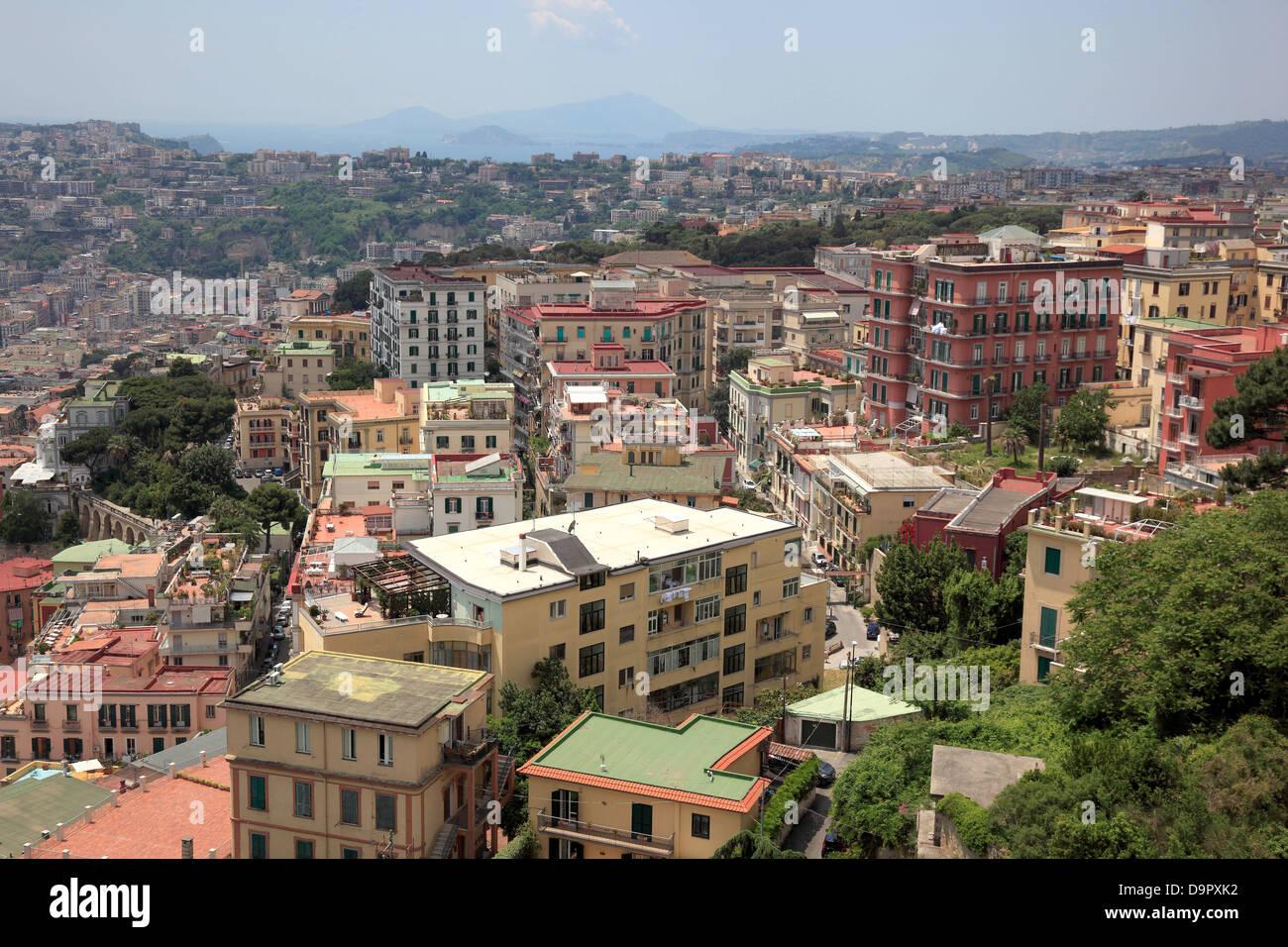 View of Naples, Campania, Italy - Stock Image