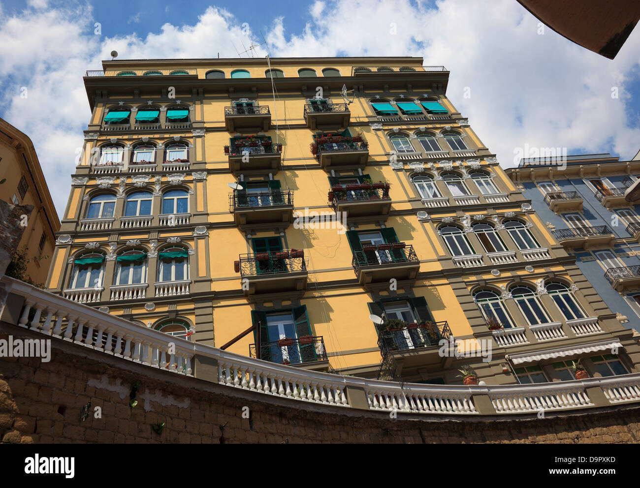 House in Posillipo district, one of the prosperous areas, Naples, Campania, Italy - Stock Image