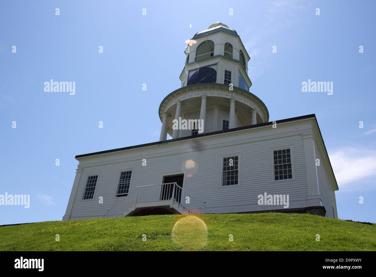 The Citadel Clock Tower is one of the most recognizable landmarks in the historic urban core of Nova Scotia - Stock Image