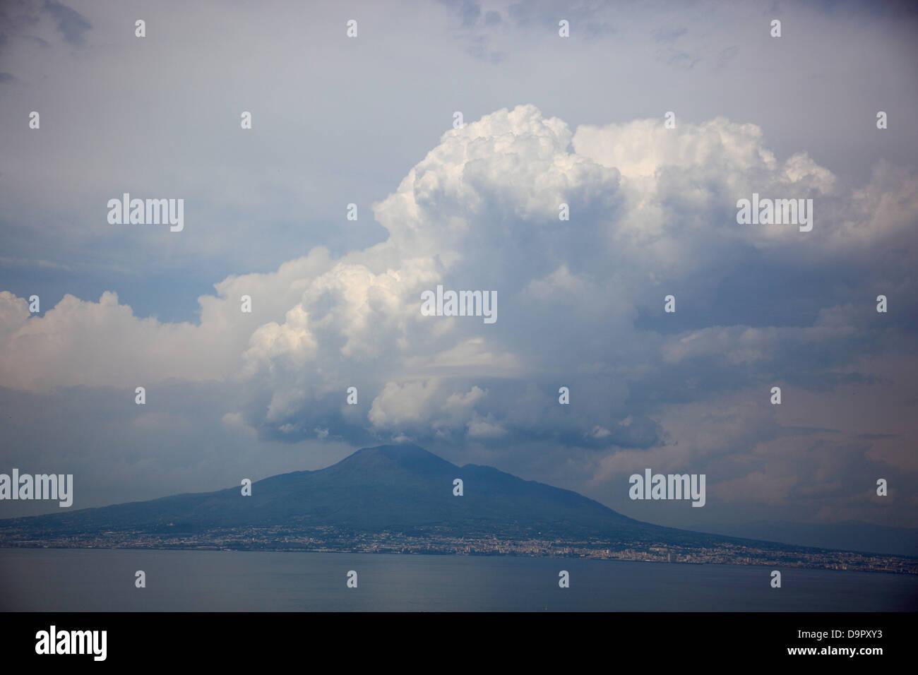 View to Vesuvius, Campania, Italy - Stock Image