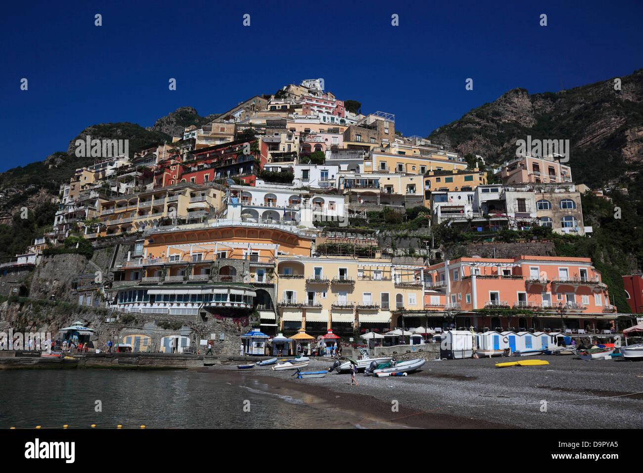 city of Positano, Campania, Italy - Stock Image