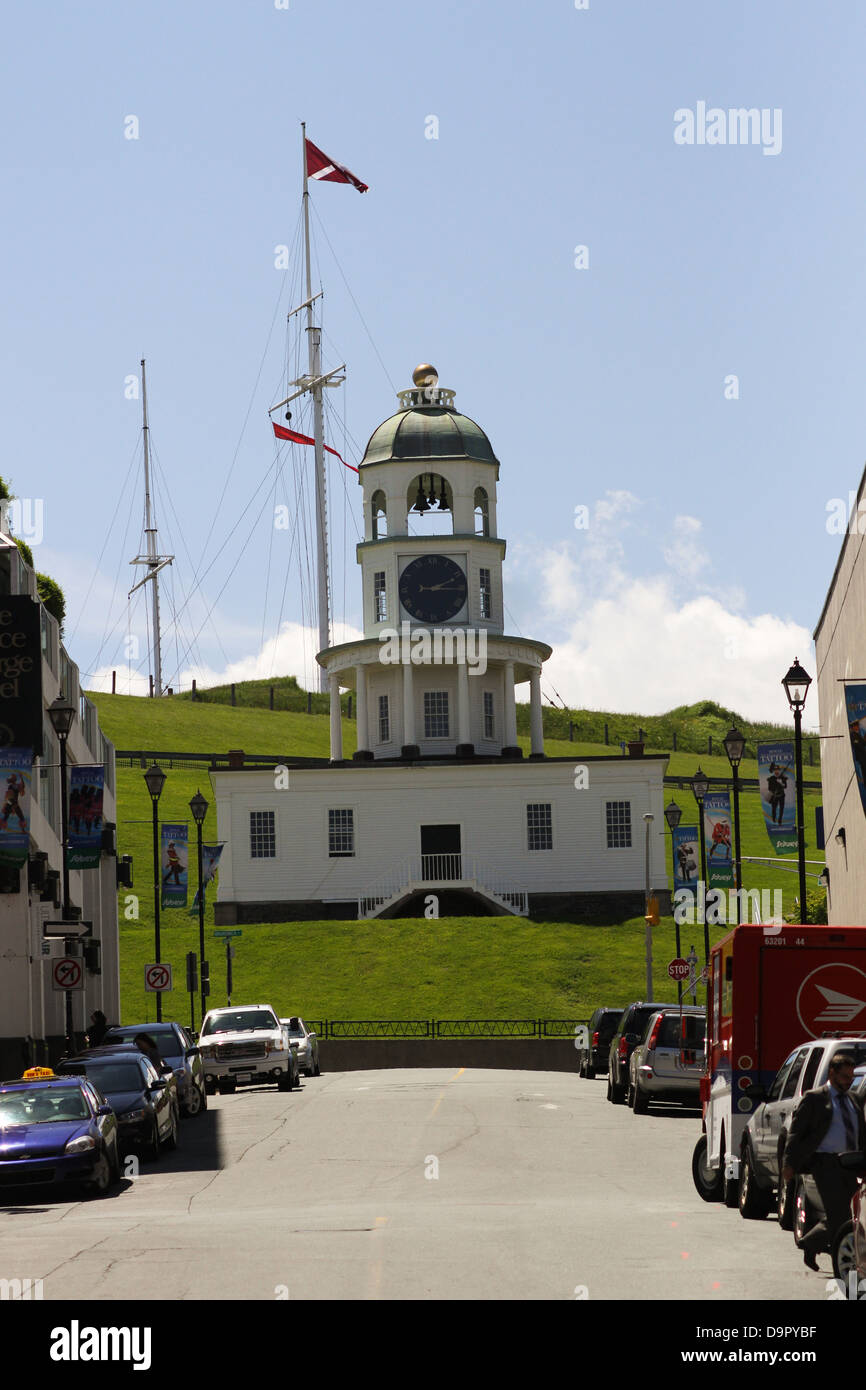 The Citadel Clock Tower, one of the most recognizable landmarks in the historic urban core of Nova Scotia - Stock Image