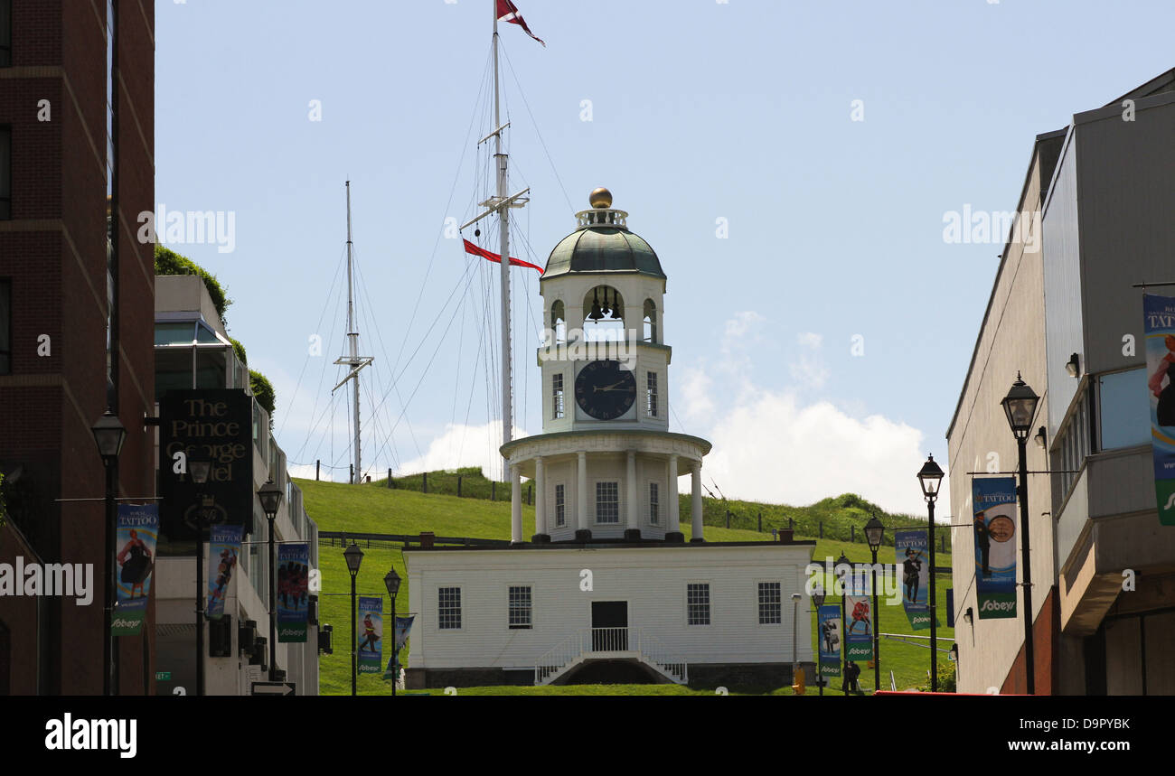 The Citadel Clock Tower, one of the most recognizable landmarks in Halifax - Stock Image