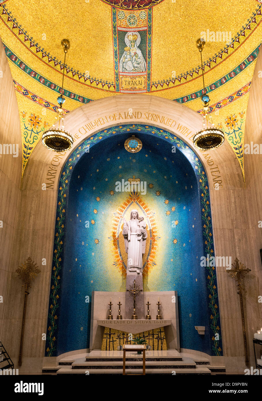 Our Lady of Siluva chapel, Basilica of the National Shrine of the Immaculate Conception, Washington DC, USA Stock Photo