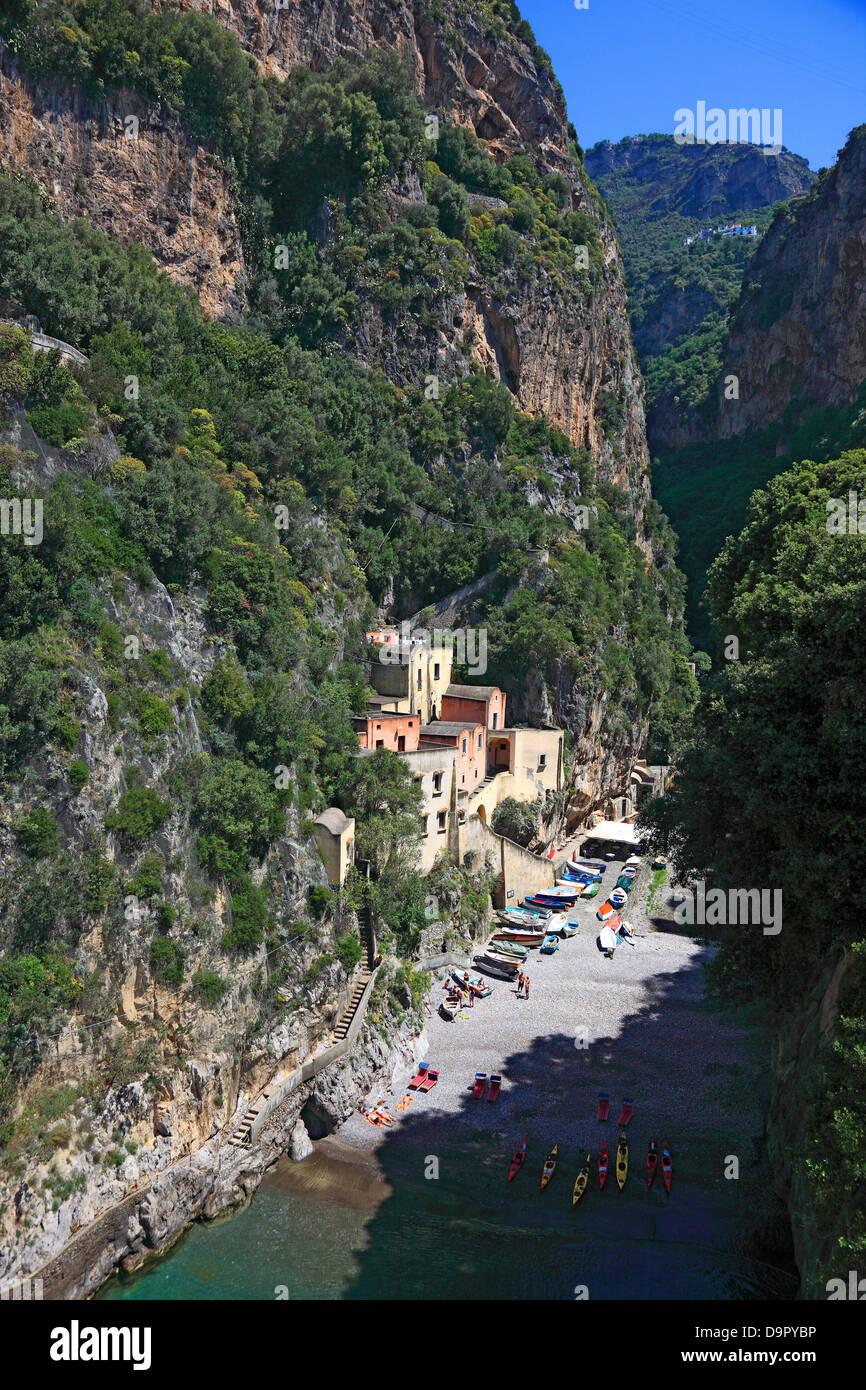 Praiano, on the Amalfi Coast, Campania, Italy - Stock Image