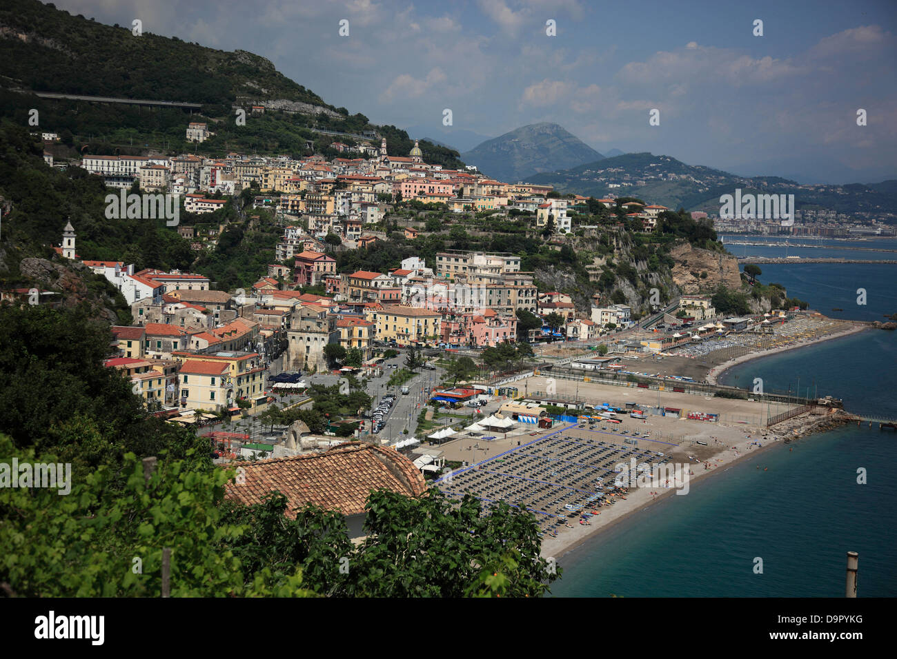 Vietri sul Mare, Campania, Italy, on the Amalfi Coast, Campania, Italy - Stock Image