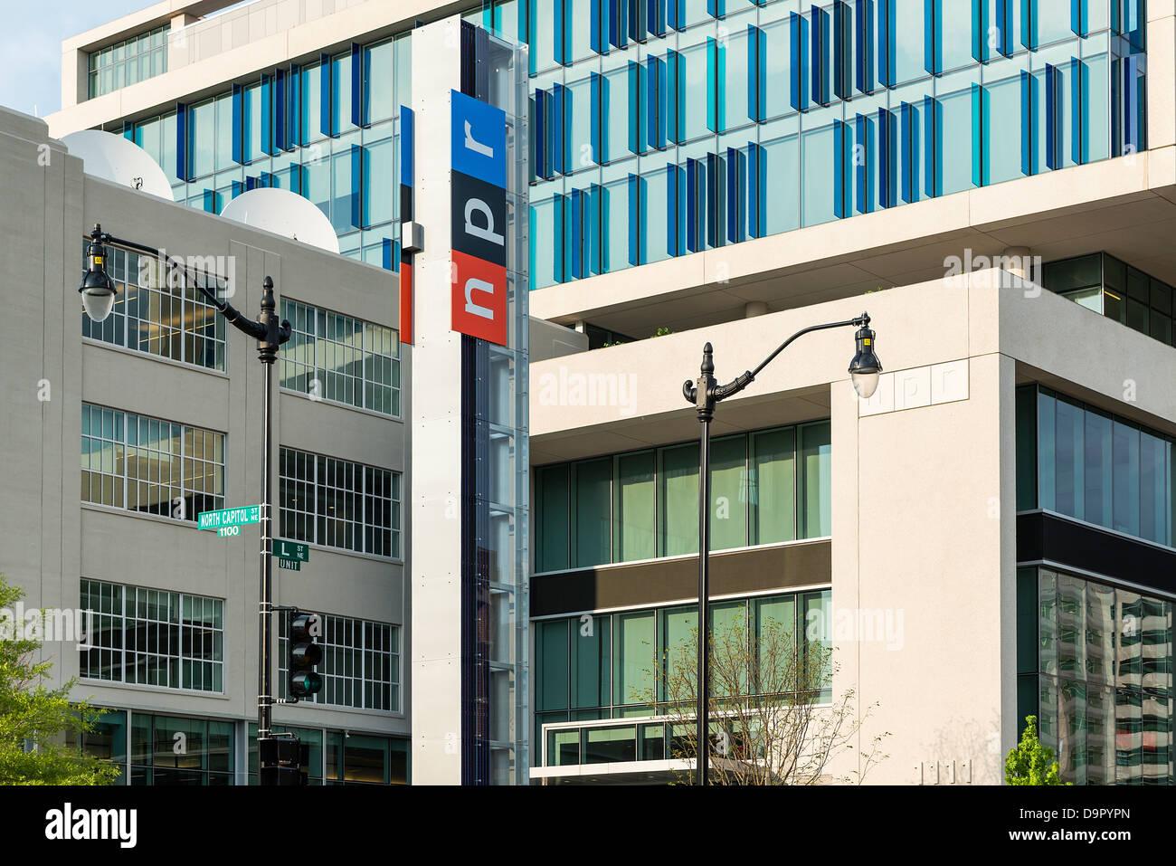 NPR, National Public Radio corporate offices, Washington DC, USA - Stock Image