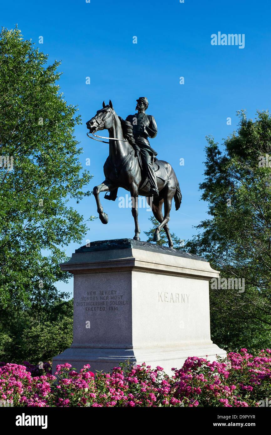 Kearny Memorial, Arlington Cemetery, Virginia, USA - Stock Image