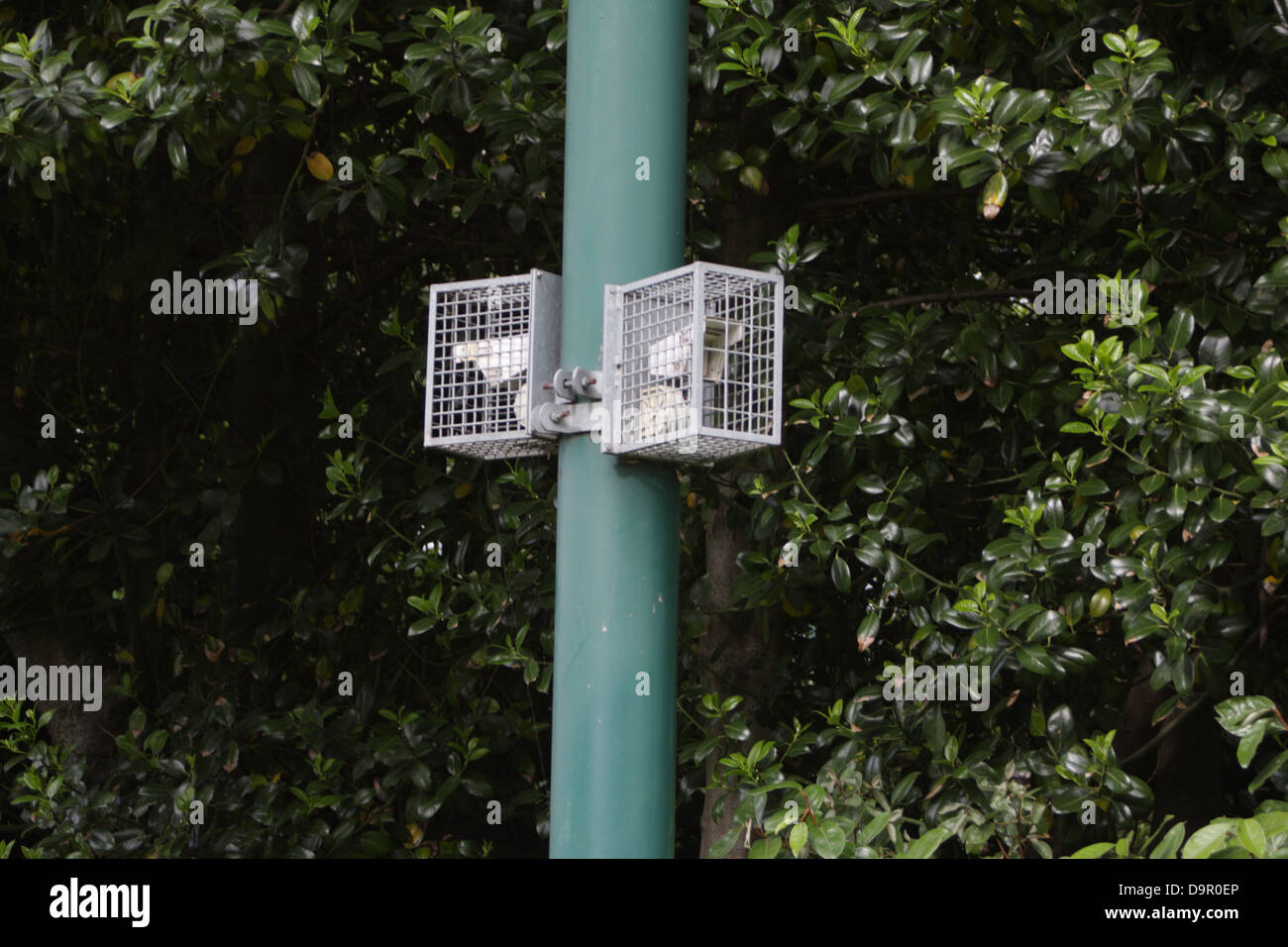 redwall out door passive infra red sensors, used for CCTV purposes to detect movement and alert camera to said movement. - Stock Image