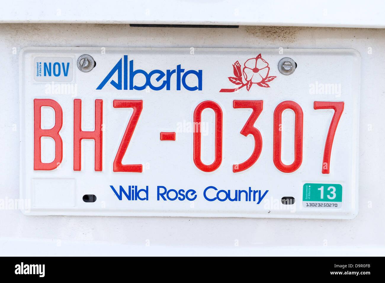 Alberta car license plate BHZ - Stock Image