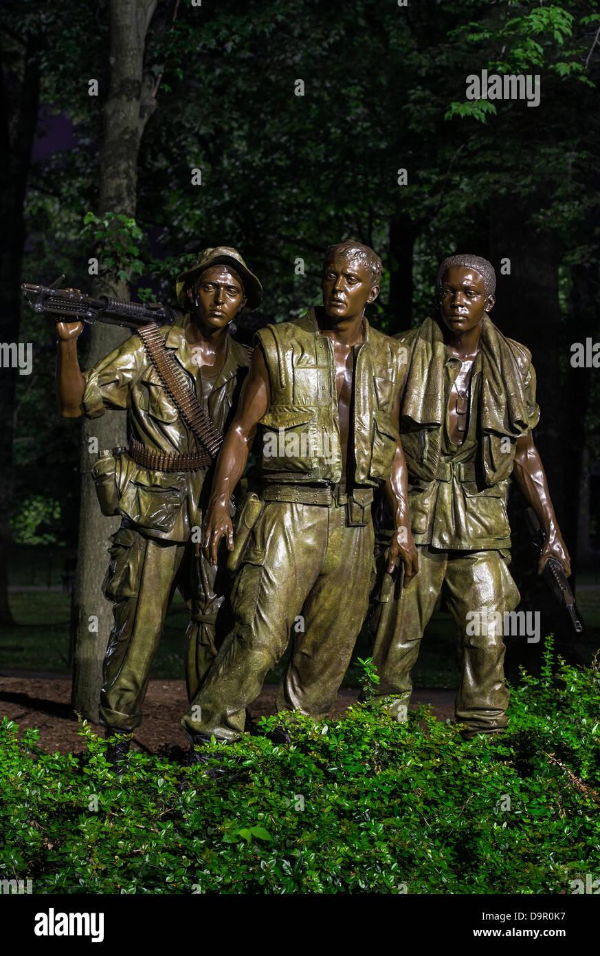 The Three Soldiers, Vietnam Veterans Memorial, - Stock Image