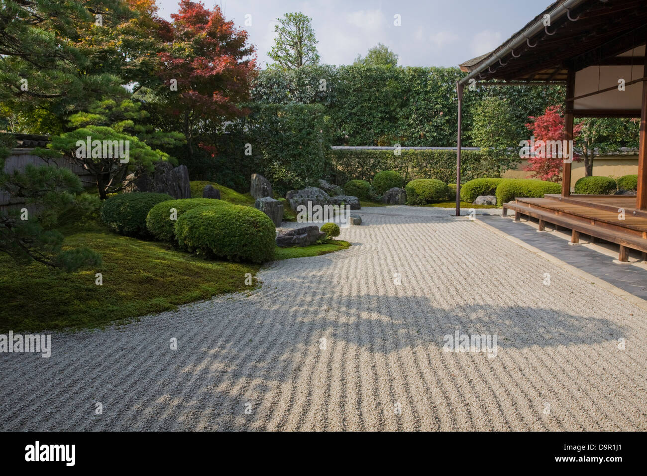 Korin-in uses typical Zen style architecture and landscaping of the Muromachi period. - Stock Image
