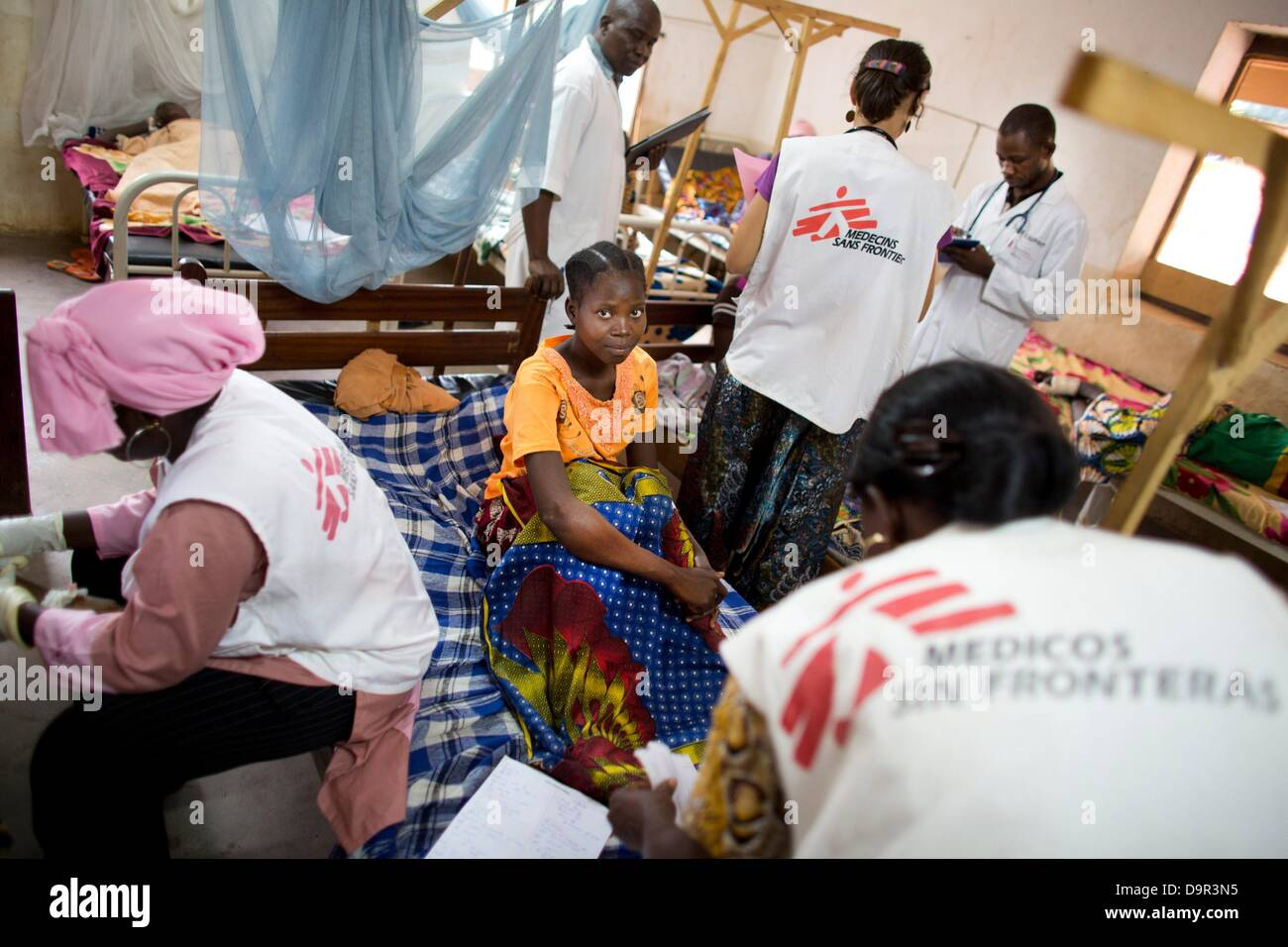 MSF Doctor At Work In Batangafo Hospital Central African Republic