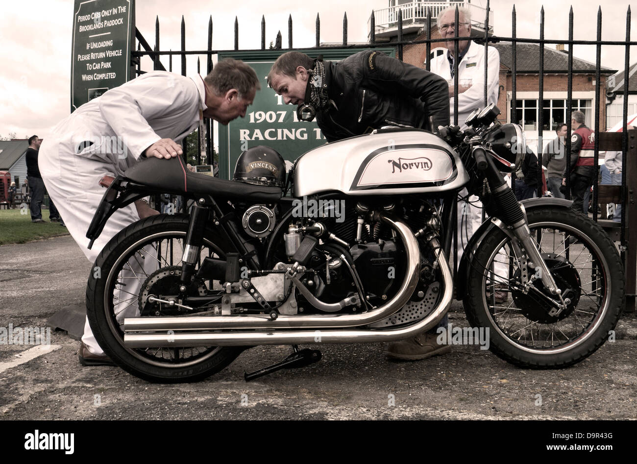 Norvin cafe racer 1960's motorcycle - Stock Image