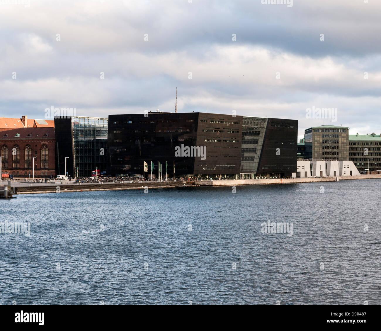 The Black Diamond - The Royal Danish Library, Copenhagen, Denmark. Architect: Schmidt Hammer & Lassen Ltd, 1999. Stock Photo