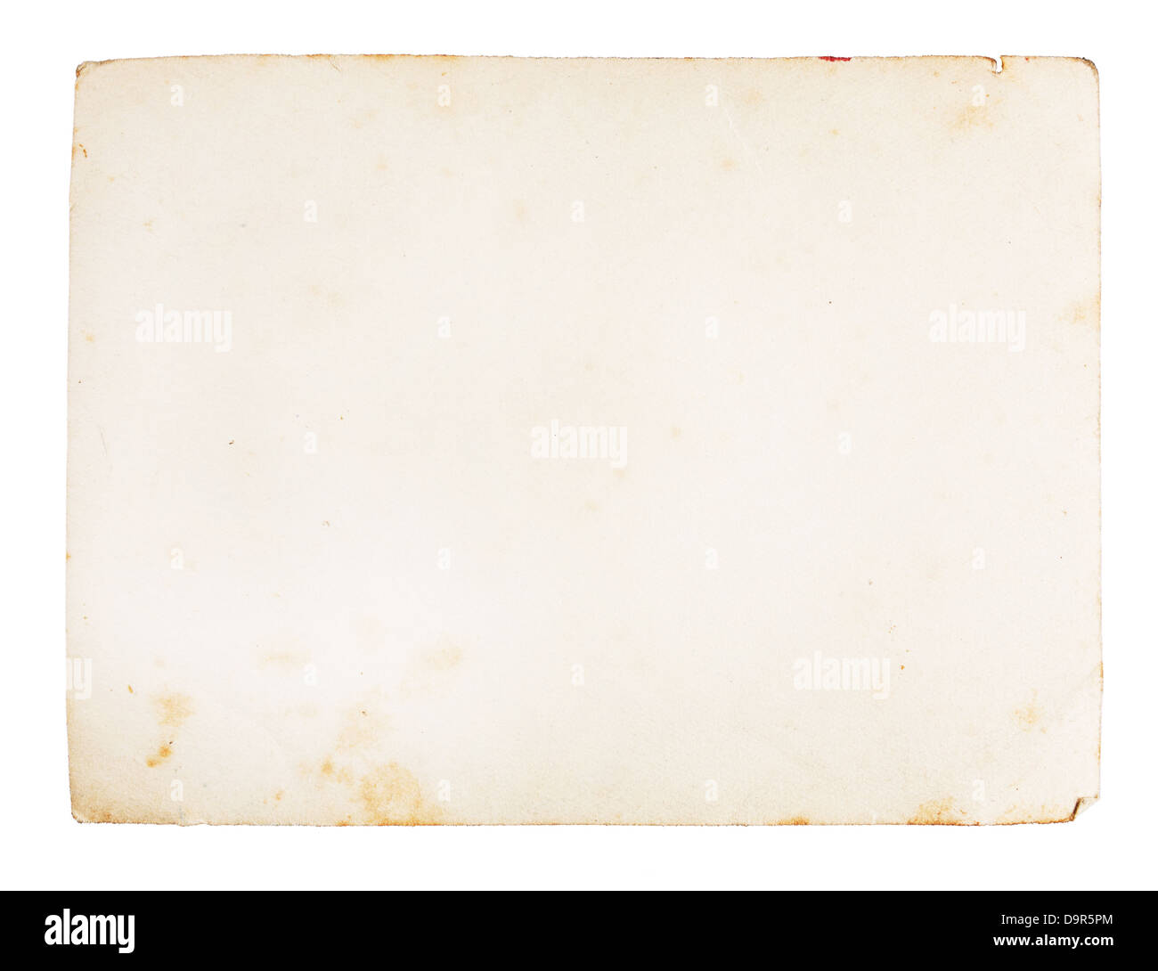 Old paper texture, isolated on white - Stock Image