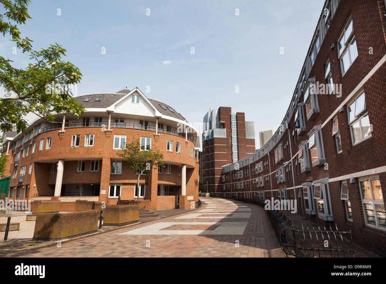 University of Portsmouth Harry Law Halls of residence and Guildhall Halls - Stock Image
