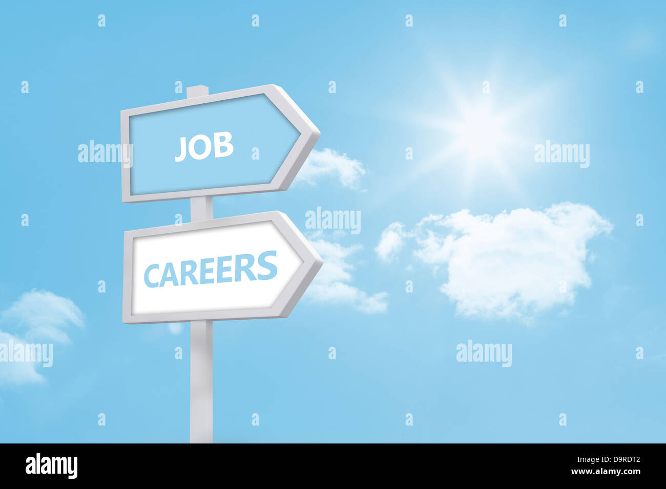 Job and careers road sign - Stock Image