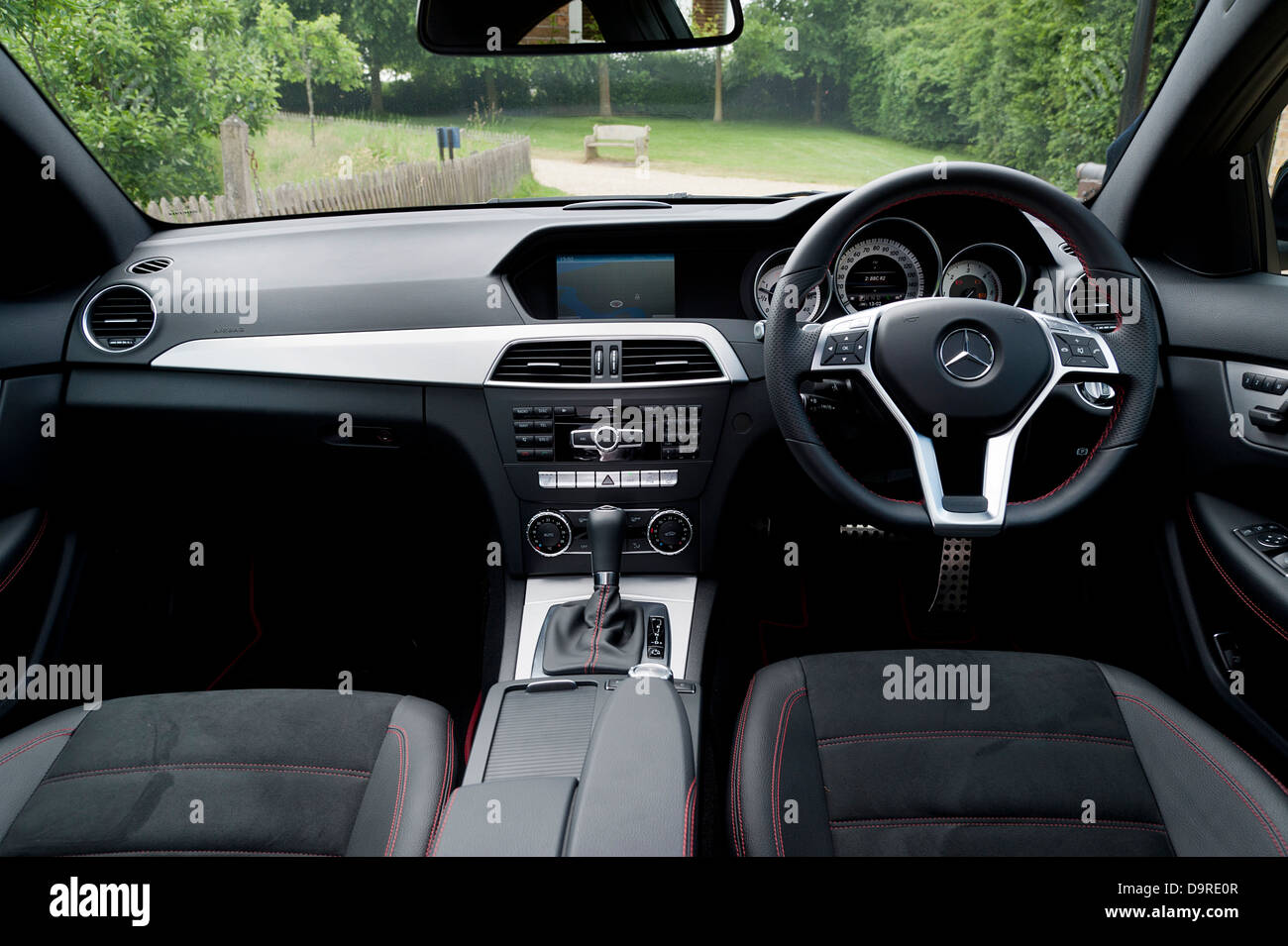 Interior Of Mercedes Benz C250 Coupe Amg Sport 2013 Stock Photo