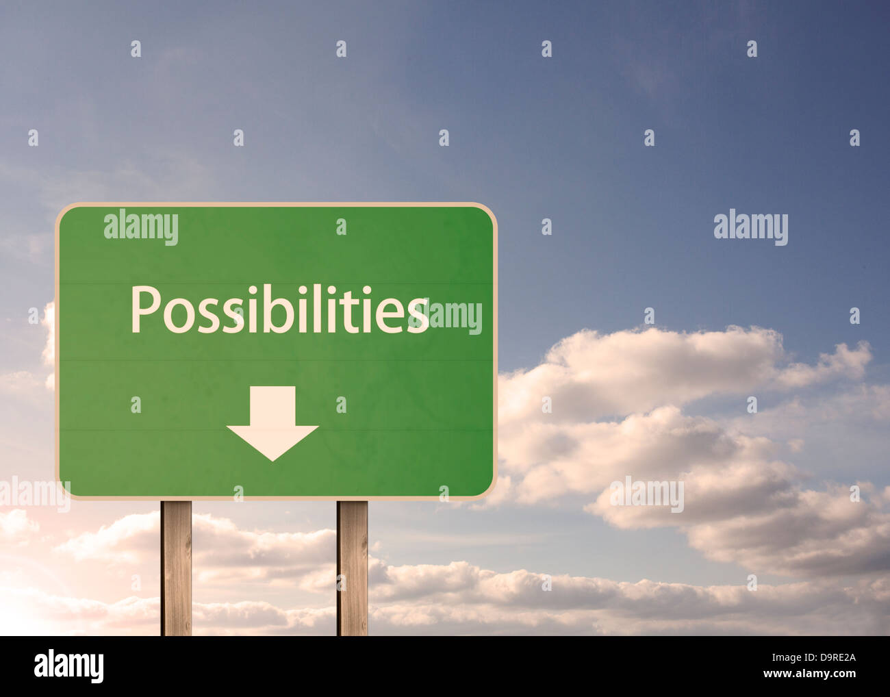 Possibilities road sign - Stock Image