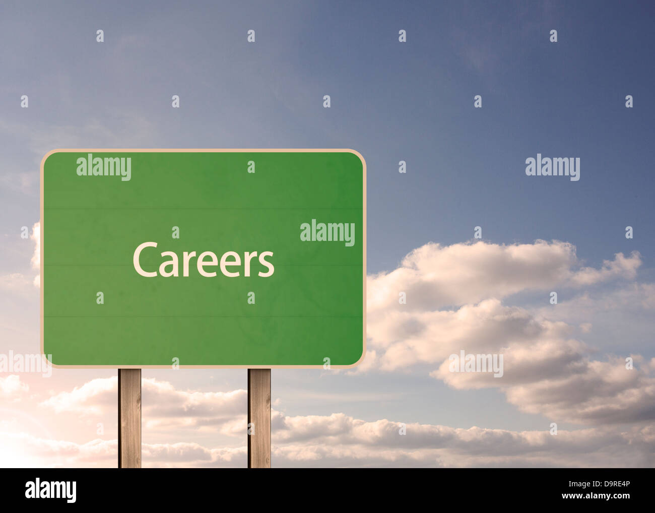 Careers road sign - Stock Image
