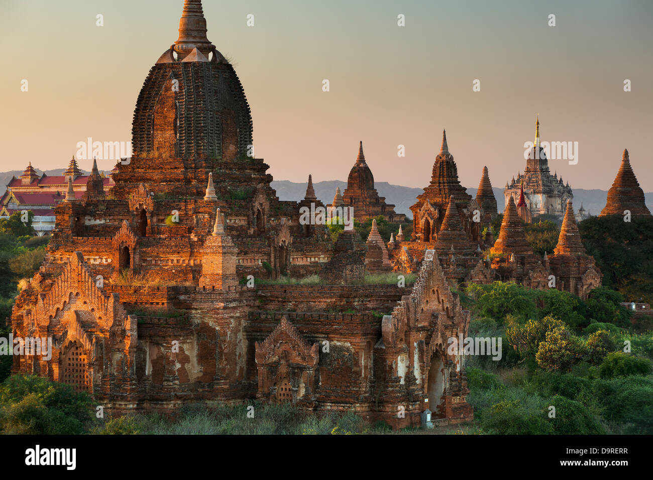 the Temples of Bagan, Myanmar (Burma) - Stock Image