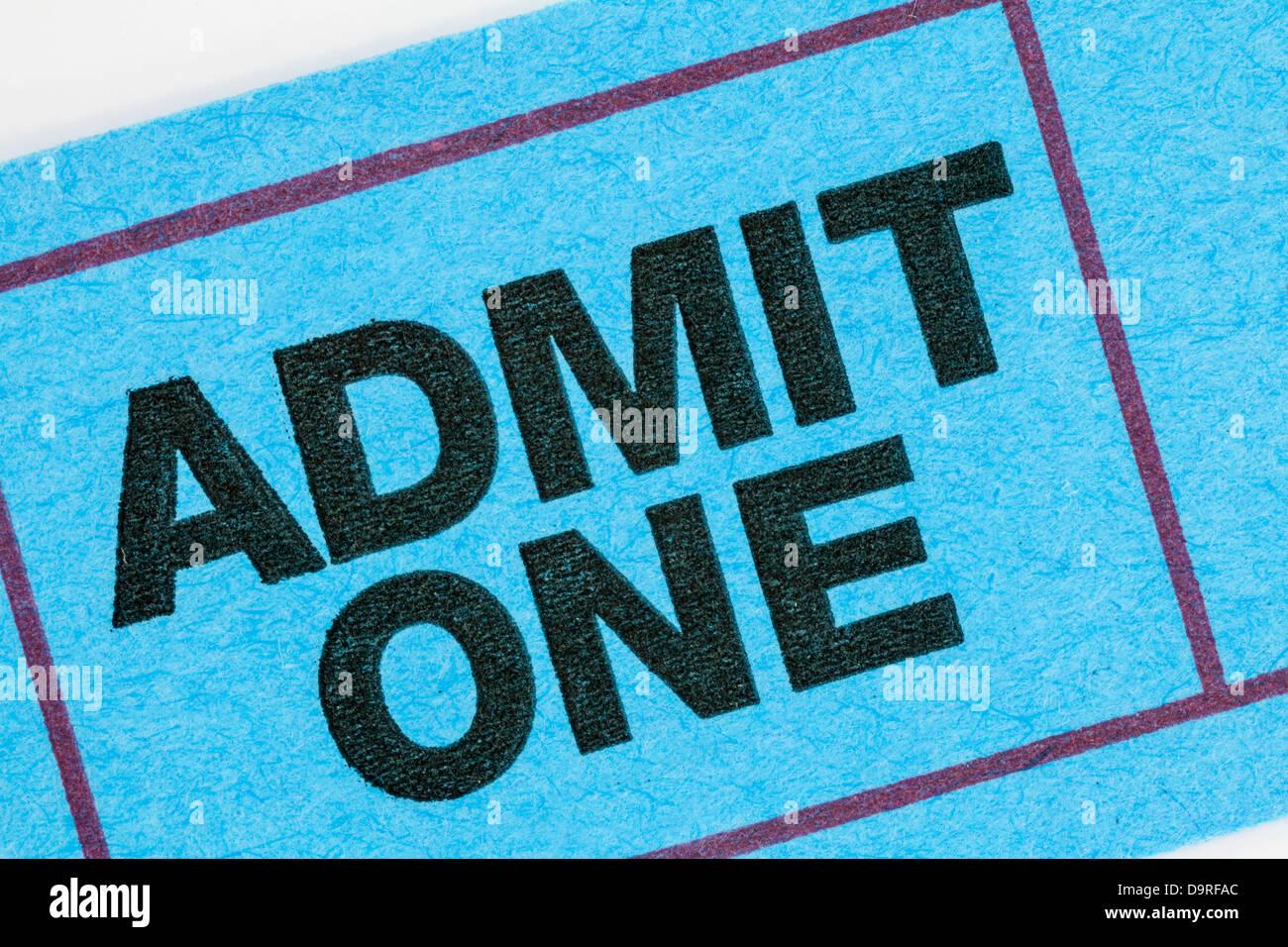 Generic ticket stub macro detail. - Stock Image