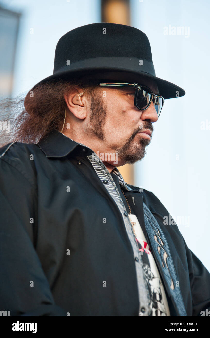 LINCOLN, CA - June 22: Gary Rossington  with Lynyrd Skynyrd performs at Thunder Valley Casino and Resort in Lincoln, Stock Photo