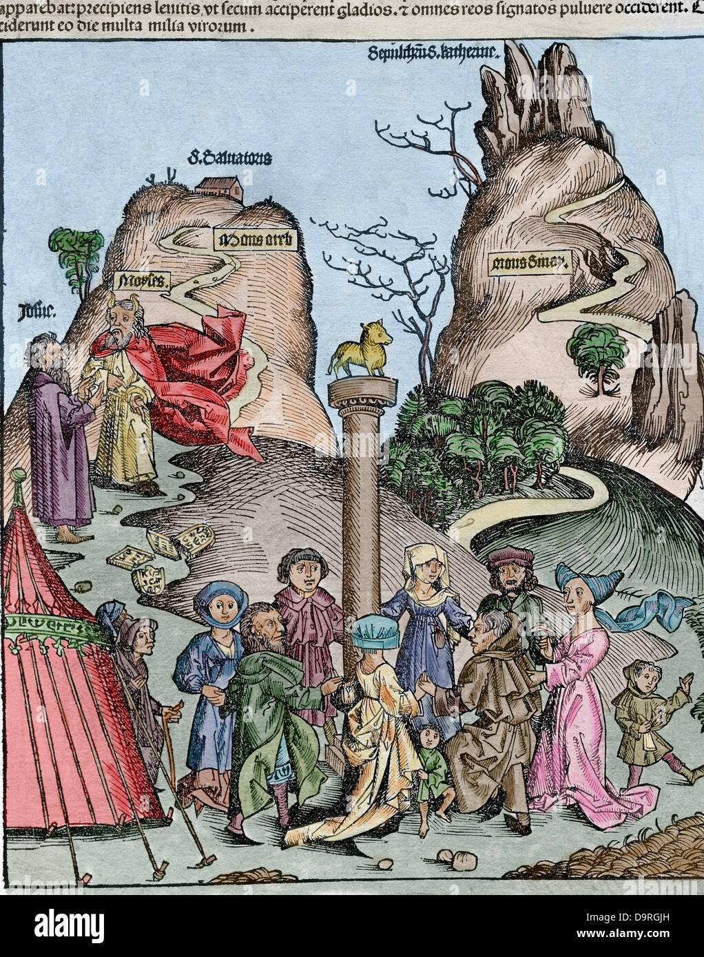 The Nuremberg Chronicle (Liber Chronicarum) by Hartmann Schedel. 1493. - Stock Image