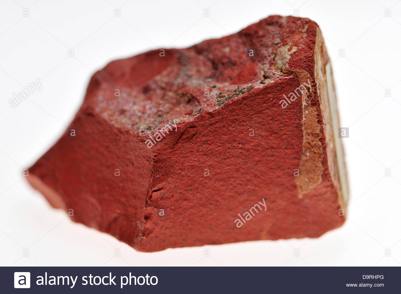 Red Jasper (opaque cryptocrystaline quartz) - Stock Image