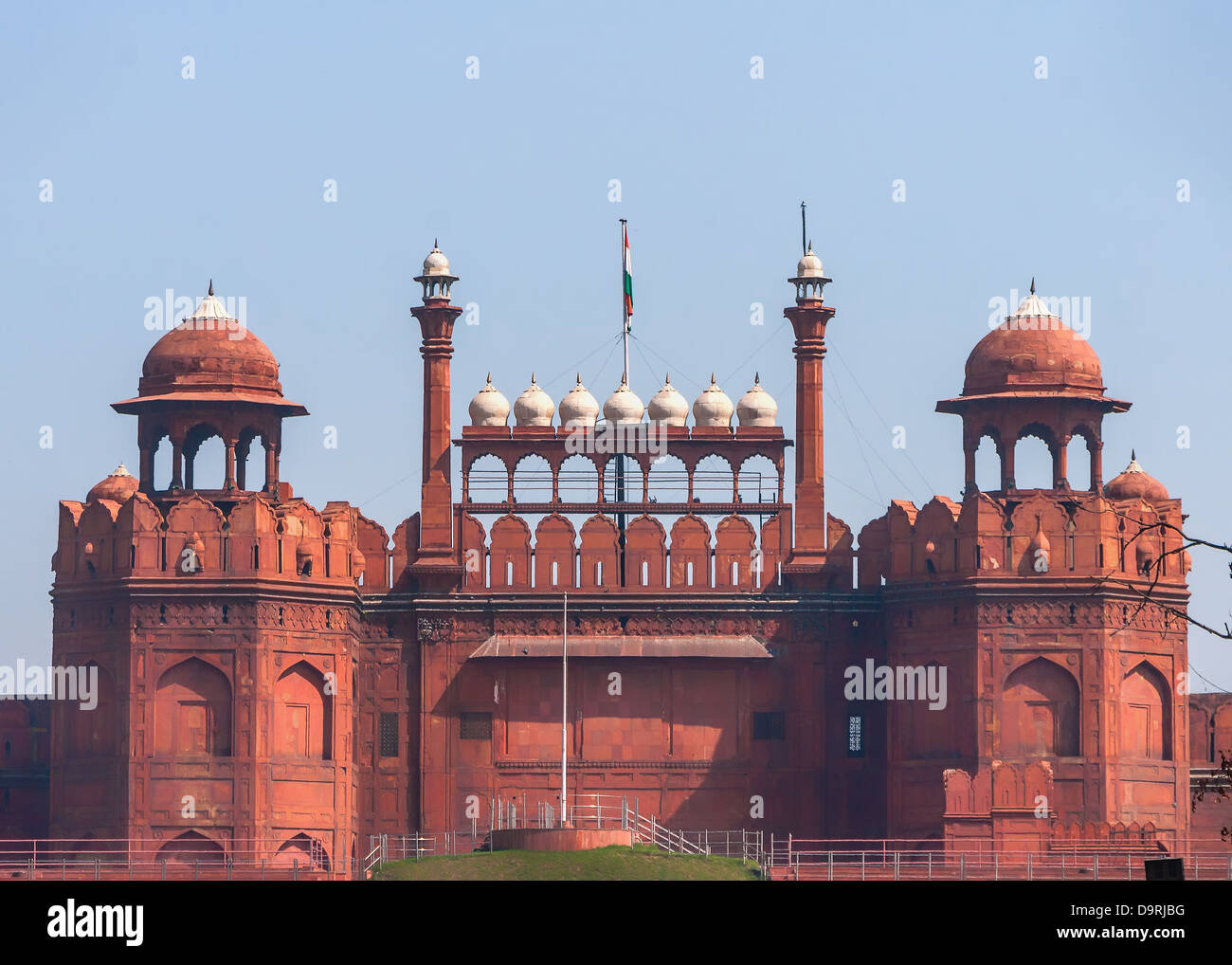 The Lahore Gate of the Red Fort in Delhi. - Stock Image