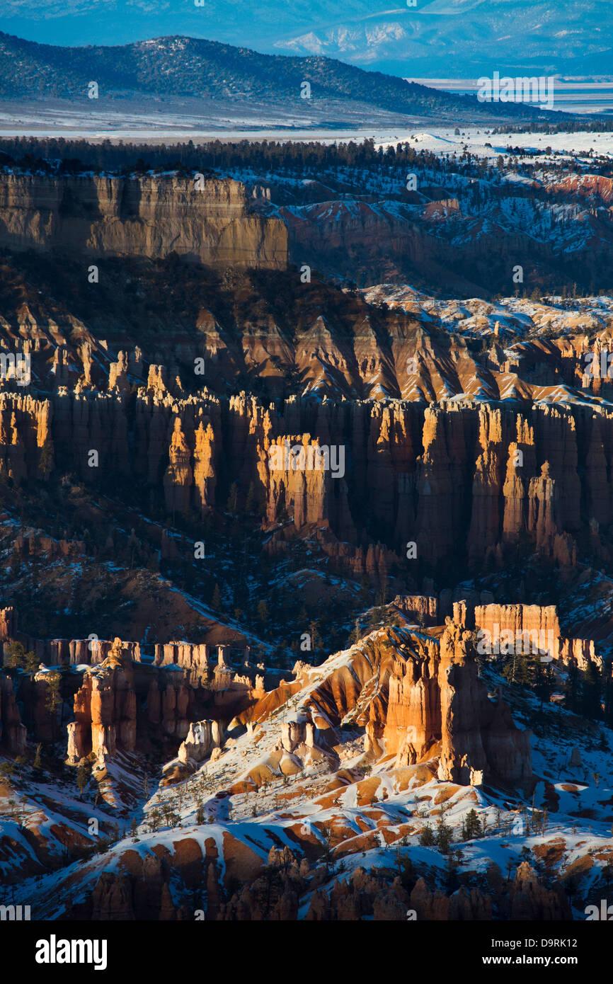 last light on the hoodoos of Bryce Canyon, Utah, USA Stock Photo