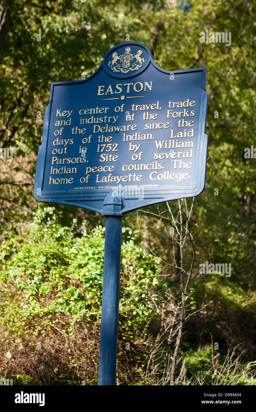 EASTON  Key center of travel, trade and industry at the Forks of the Delaware since the days of the Indian. Laid - Stock Image