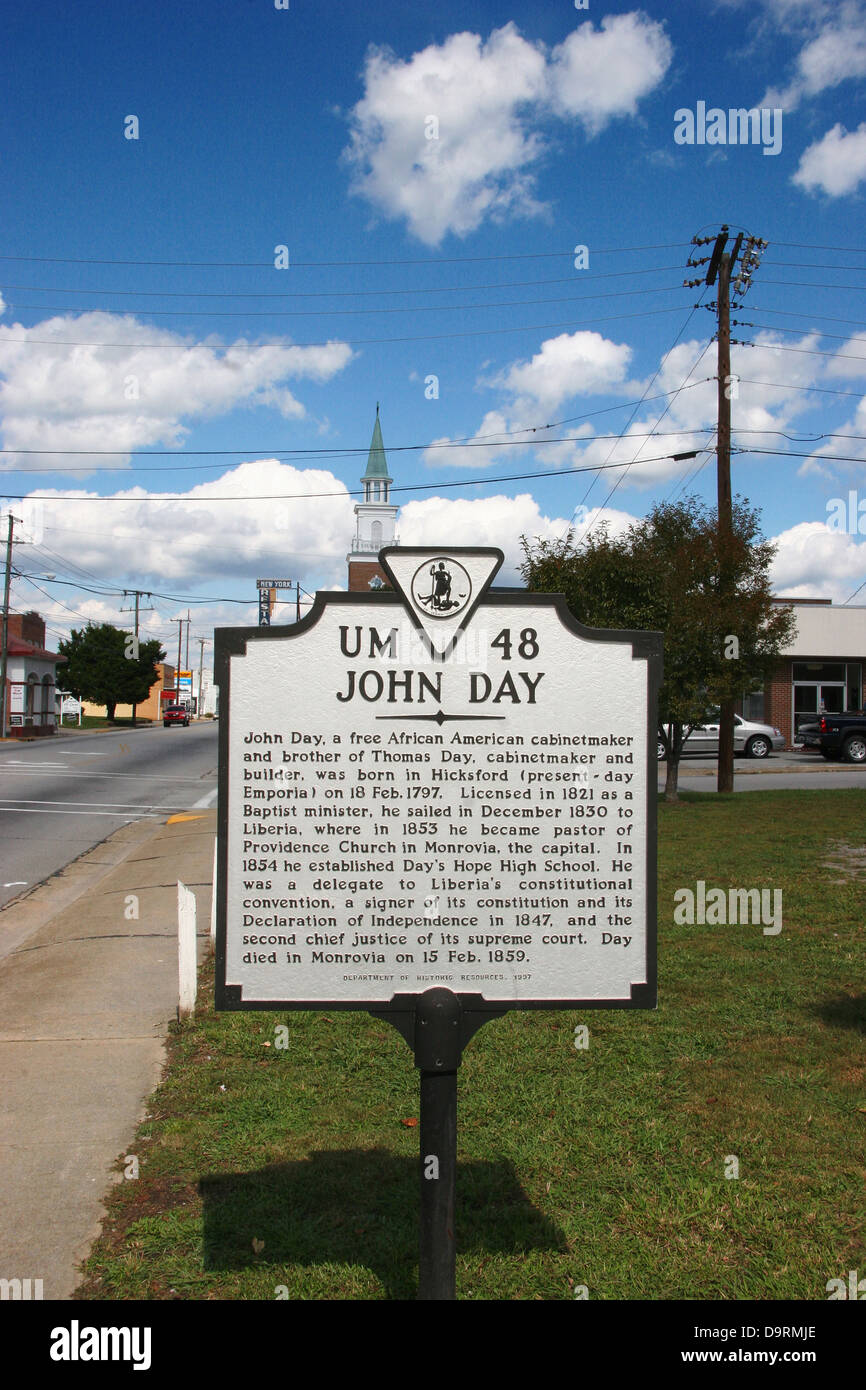 JOHN DAY  John Day, a free African American cabinetmaker and brother of Thomas Day, cabinetmaker and builder, was - Stock Image