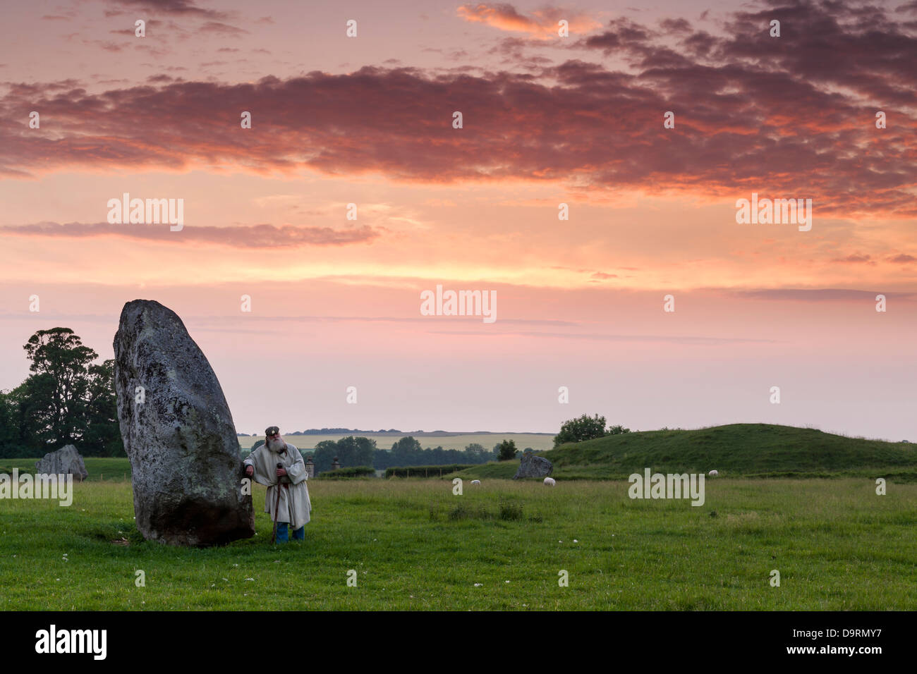 The 'Keeper of the Stones' - Avebury, Wiltshire. - Stock Image
