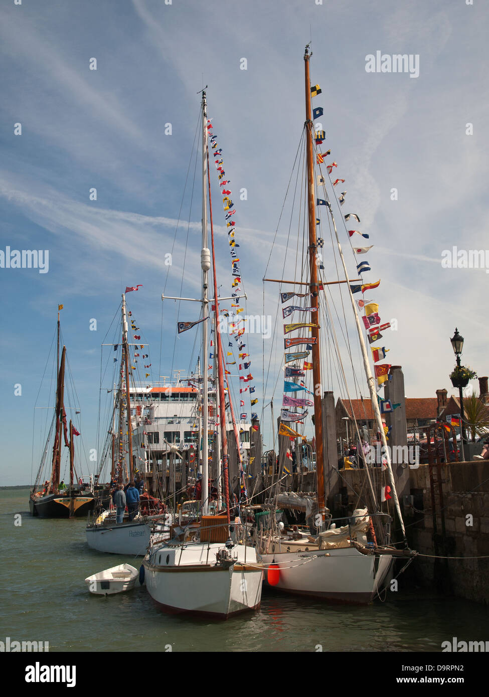 Yarmouth Isle of Wight England UK during the 2013 Old Gaffers Festival Stock Photo