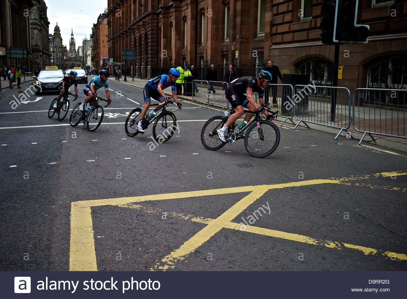 Ian Stannard of Team Sky leads the breakaway during the Mens British  Cycling National Road Race c7a9c5af3