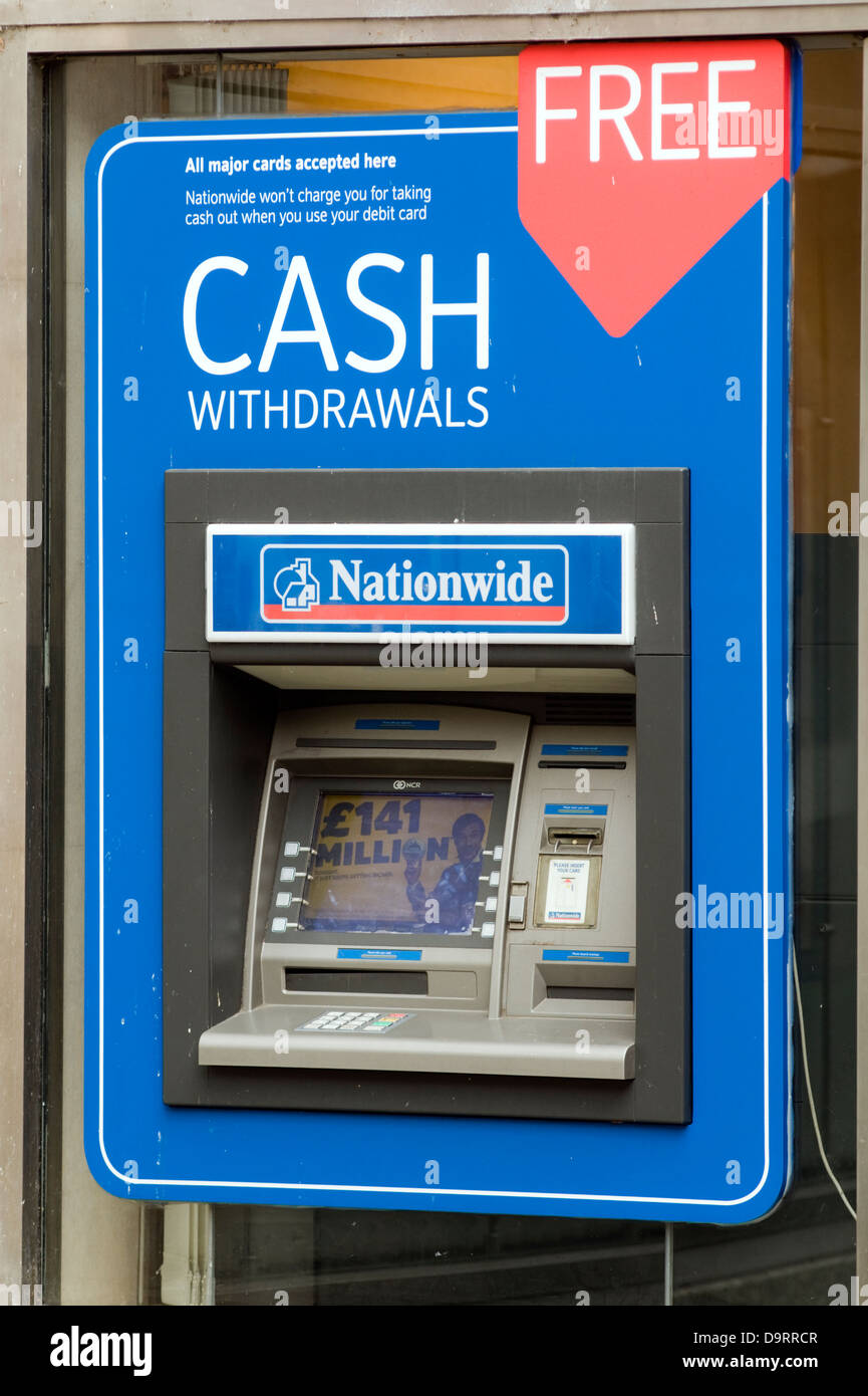 a nationwide bank atm cash machine stock photo 57686295 alamy