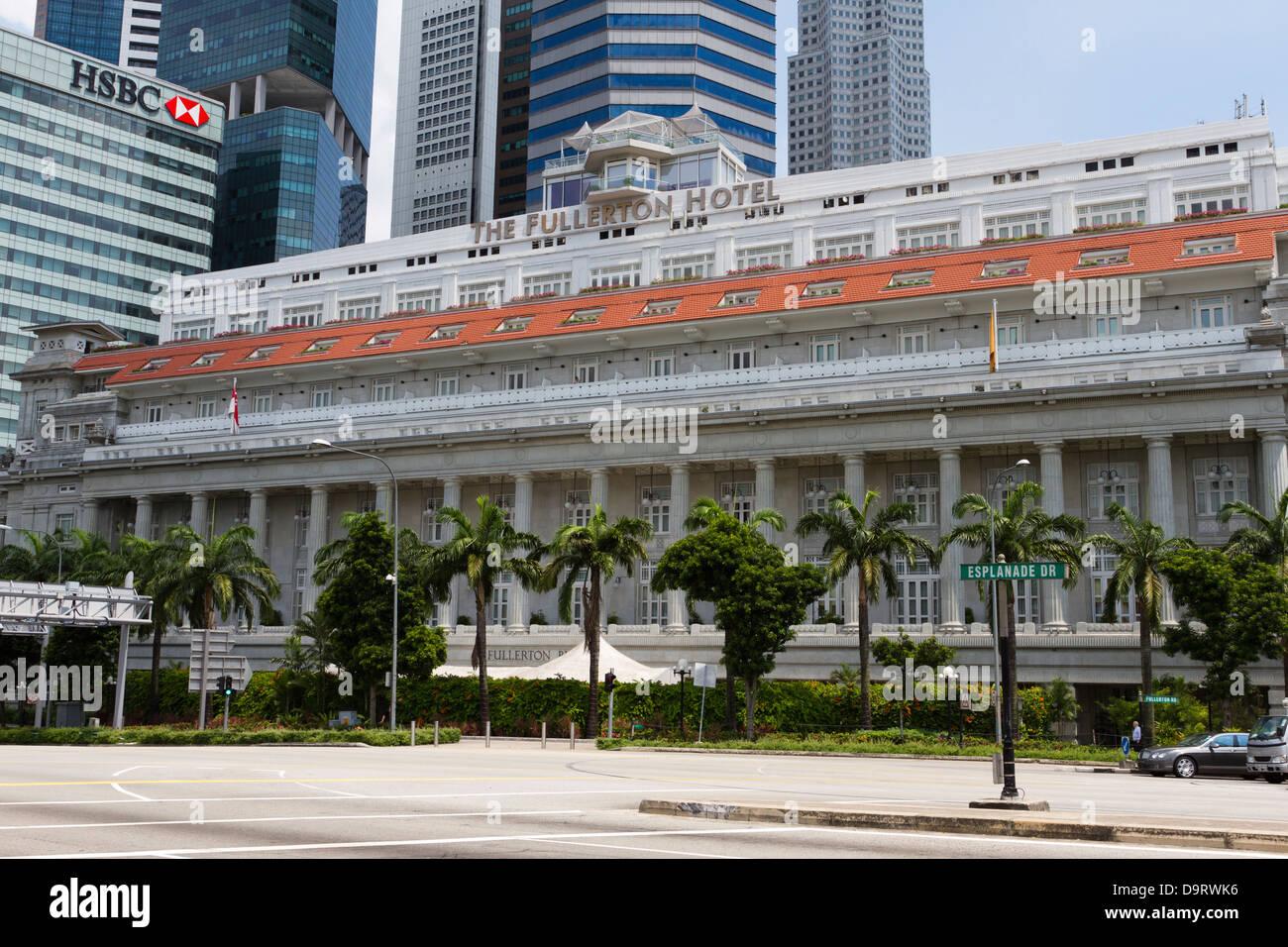 Fullerton Bay Hotel, Singapore, Asia - Stock Image