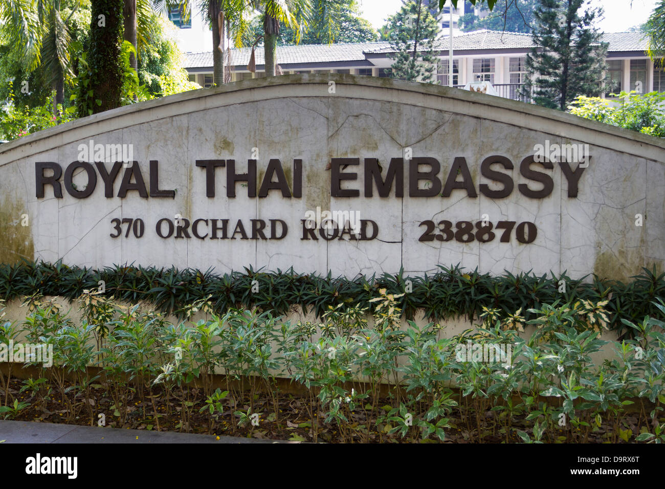 Royal Thai Embassy, Orchard Road, Singapore - Stock Image