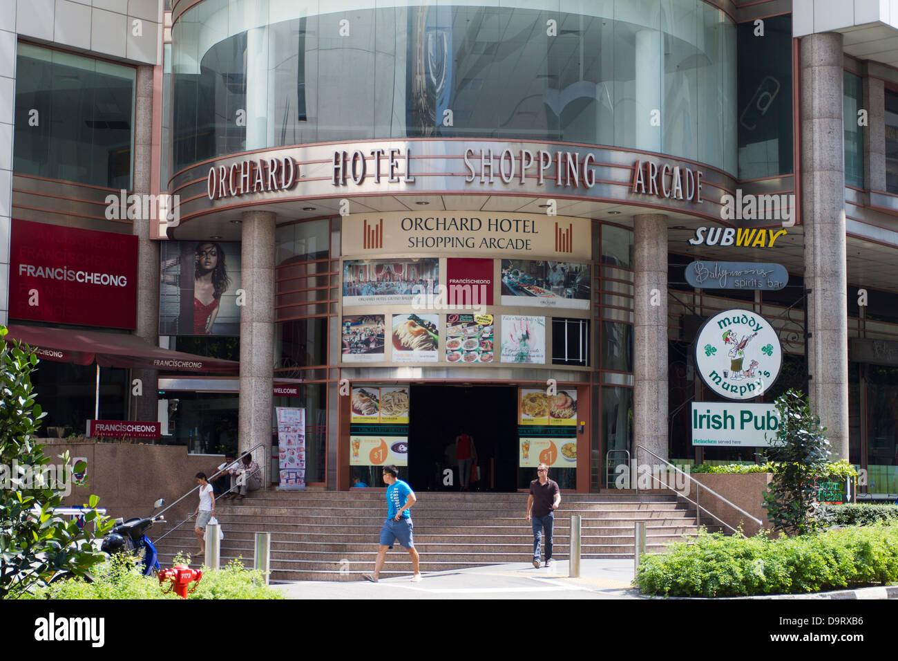 Orchard hotel shopping arcade, Orchard Road, Singapore, Asia - Stock Image