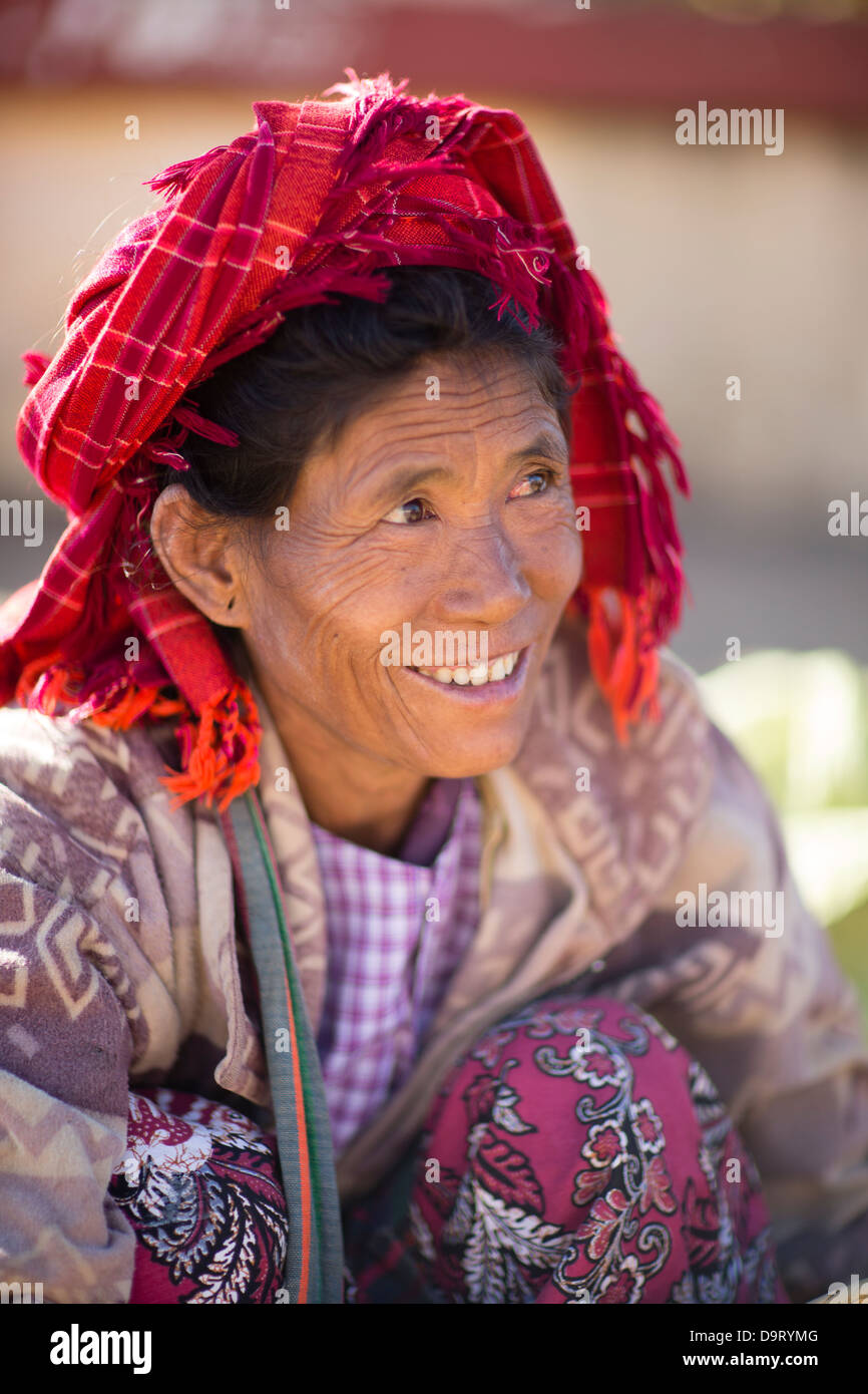 a lady, Inle Lake, Myanmar (Burma) - Stock Image