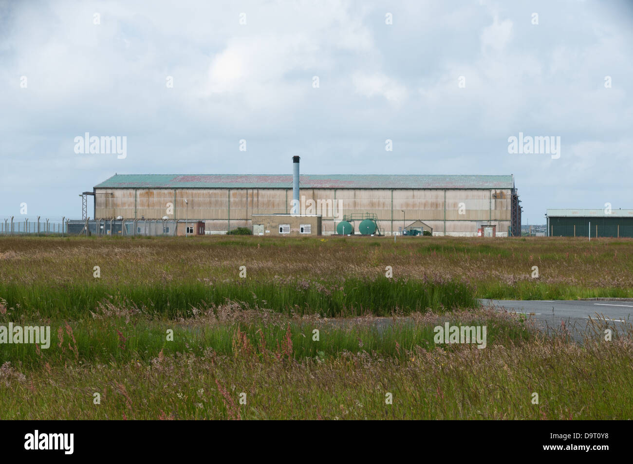 A view across to the T2 Hangar used to store & service Jindivik pilotless aircraft. - Stock Image